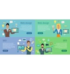 Web design seo infographic set vector