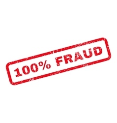 100 percent fraud text rubber stamp vector