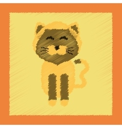 Flat shading style icon pet cat vector