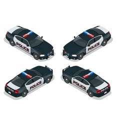 Isometric Moder american Police car vector image