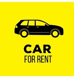 Car for rent icon vector