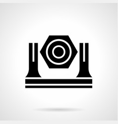 Stage light glyph style icon vector