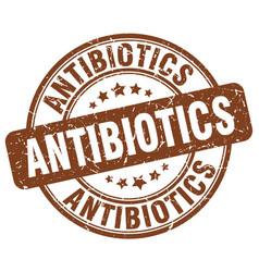Antibiotics brown grunge stamp vector