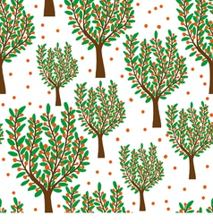 Orange trees vector