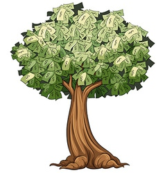 A money tree vector