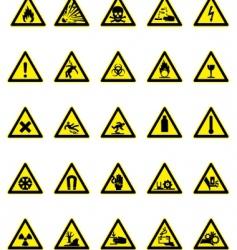 hazard icon set vector image