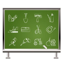 chalk icons vector image