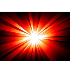 Light explosion background wth orange and red vector