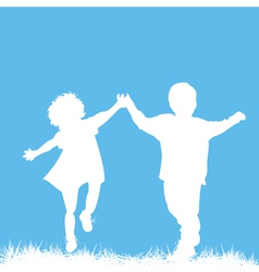 Children silhouettes vector
