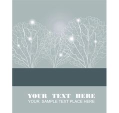 Abstract fluffy white trees vector image