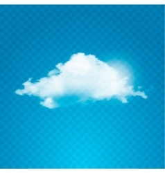 Realistic cloud on transparent background vector