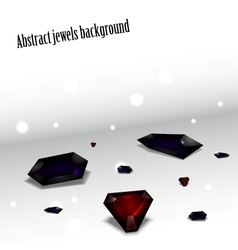 abstract jewel set vector image vector image