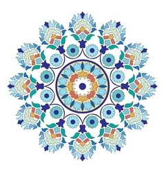 Artistic ottoman pattern series six vector