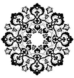 Black oriental ottoman design thirty three vector