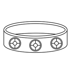 Bracelet icon outline style vector