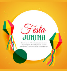 Brazil festival of festa junina poster design vector