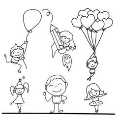 cartoon kidsplay vector image vector image