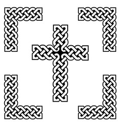 Celtic style endless knot cross symbols vector