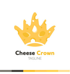 Cheese crown logo restaurant logo food and vector