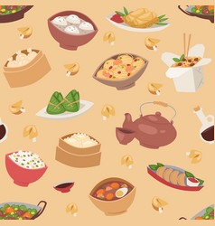 chinese traditional food steamed dumpling asian vector image
