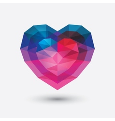 Crystal heart icon Glass love symbol vector image vector image