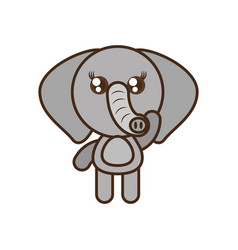 Cute elephant toy kawaii image vector