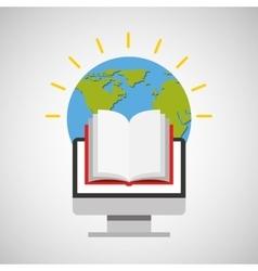 education online global book vector image