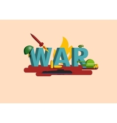 Elements of War Military vector image