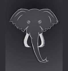 Elephant head front view this icon may be used vector