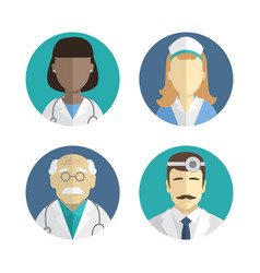 flat design people icons vector image vector image