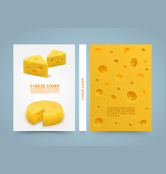 Flyer cheese banner book a4 size paper template vector