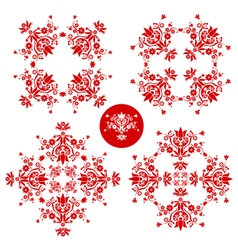 folk floral decoration vector image