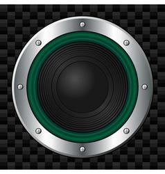 green speaker vector image vector image