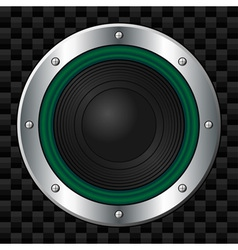 green speaker vector image
