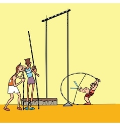 High jump athletes athletics vector