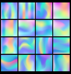 Holographic abstract backgrounds big set vector