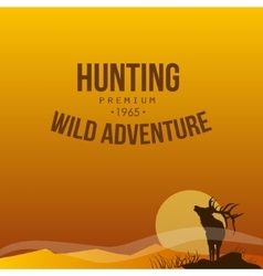 Hunting poster vector