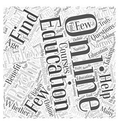 Is an online education right for you word cloud vector