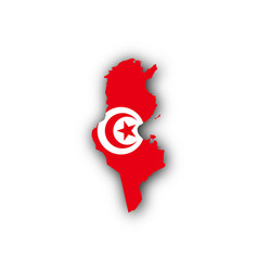 Map and flag of tunisia vector