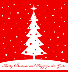 Merry christmas and a happy new year winter story vector