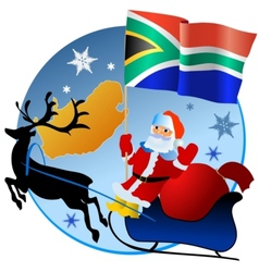 Merry Christmas South Africa vector image