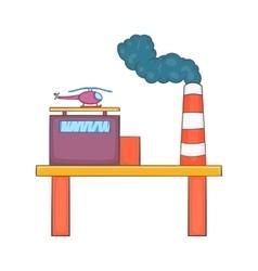 Oil platform icon cartoon style vector