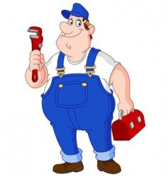plumber vector image vector image