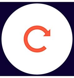 Rotation arrow computer symbol vector