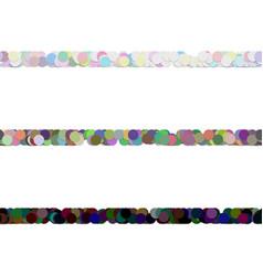 Seamless dot pattern paragraph divider line set vector