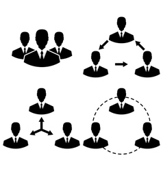 set icons human resources and management - vector image