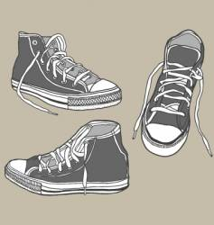 Shoe sketch vector
