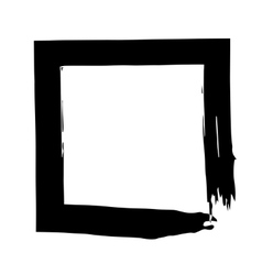 Square frame brush grunge paint watercolour vector image vector image