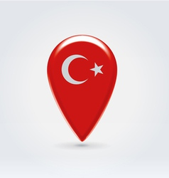 Turkey icon point for map vector image