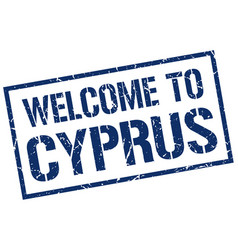 Welcome to cyprus stamp vector